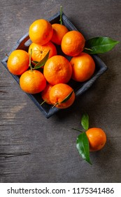 Fresh juicy clementine mandarins, winter time fruits.