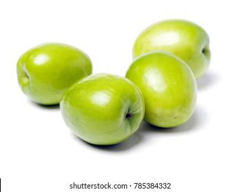Fresh juicy jujube isolated on white background