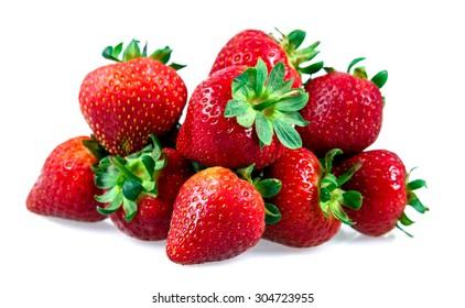 Fresh Juicy Strawberry Isolated on white background.