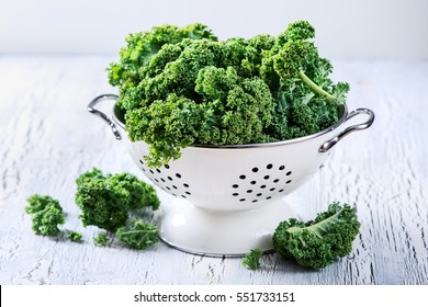 Fresh kale curly cabbage for healthy vegan and vegetarian food, cooking ingredient