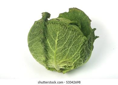 Fresh kale on white background, isolated, easy to manipulate. Without shadow.