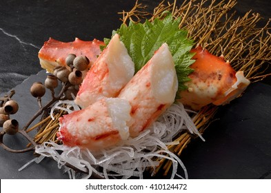 Fresh King Crab Sashimi, Special seafood, TARABA, Japan