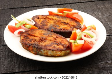 Fresh King fish fry, served with fresh salad,