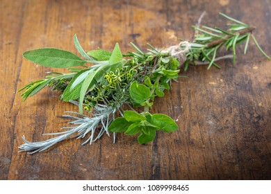 Fresh Kitchen Herbs - rosamary, thyme, sage, oregano, curry herb and lemon thyme