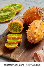 Fresh kiwano close-up