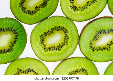 Fresh kiwi fruit background