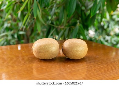 Fresh Kiwi on the table - Shutterstock ID 1605021967
