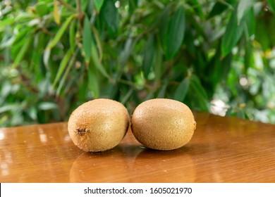 Fresh Kiwi on the table - Shutterstock ID 1605021970
