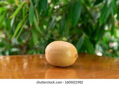 Fresh Kiwi on the table - Shutterstock ID 1605021982
