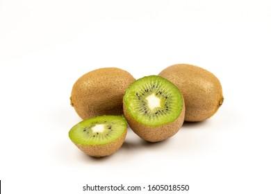 Fresh Kiwi on a white background - Shutterstock ID 1605018550