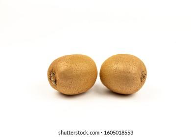 Fresh Kiwi on a white background - Shutterstock ID 1605018553