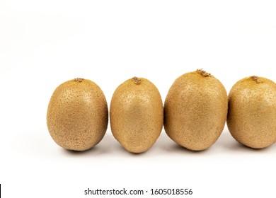 Fresh Kiwi on a white background - Shutterstock ID 1605018556