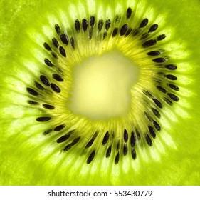 Fresh kiwi slice background