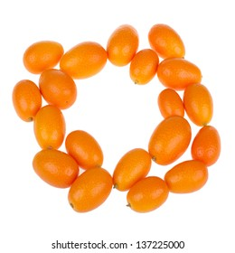 Fresh Kumquat isolated on white