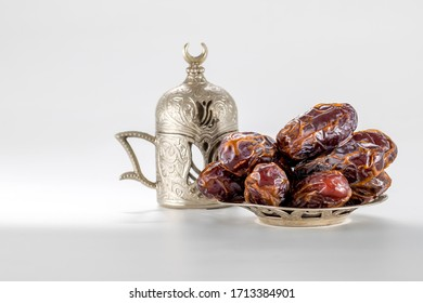 Fresh large medjool dates ready to eat for fasting in Ramadhan