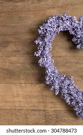 Fresh lavender in a heart shape design