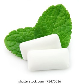 Fresh leas mint with two chewing gum