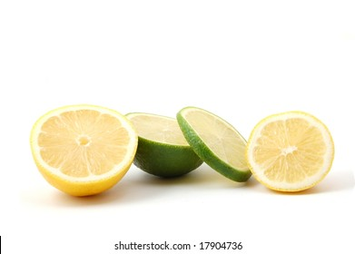 fresh lemon  and citron fruits isolated an a white background