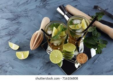 Fresh Lemon Fruit Lime Caipirinha of Brazil