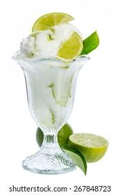 fresh lemon icecream gobbler isolated on white background