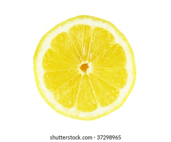 Fresh lemon isolated on white