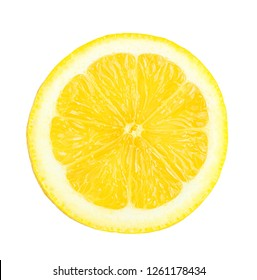 Fresh lemon slices isolated on white background with clipping path