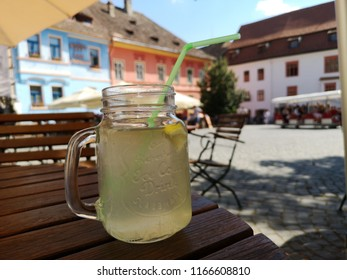 fresh lemonade on the bar table