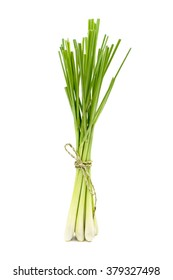 Fresh Lemongrass (citronella) isolated on white background, with clipping path.