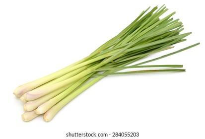 Fresh Lemongrass isolated on white background