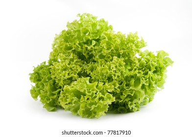 Fresh lettuce salad isolated on a white background