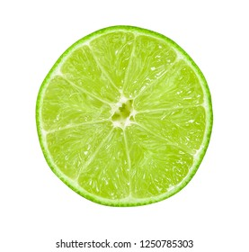 Fresh lime isolated on white clipping path.