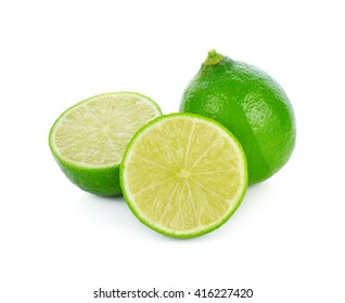 fresh lime isolated on a white background.