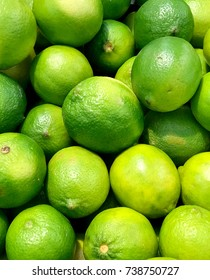 Fresh limes at the market.