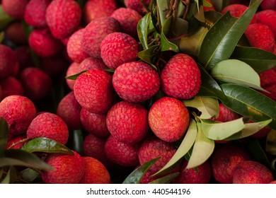 fresh litchi fruit