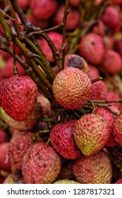 Fresh litchi ready for sale in street market