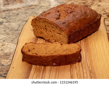 Fresh Loaf of Pumpkin Bread Right Out of the Oven