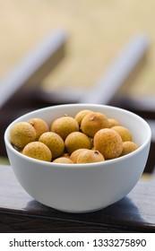 fresh longan fruit in the morning