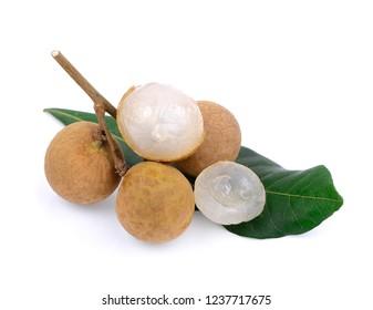 fresh longan isolated on white background