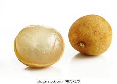 fresh longan on white background