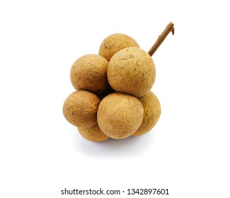 Fresh Longan sweet fruit with shadow isolated on white background. This has clipping path.