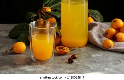 fresh loquat juice, Mediterranean fruit