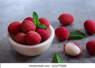 Fresh Lychee Fruits/ Litchi  still life