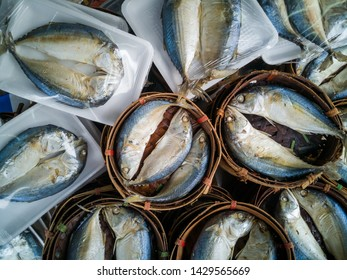 Fresh mackerel. Mackerel top view. Mackerel in fresh maket. Sea food