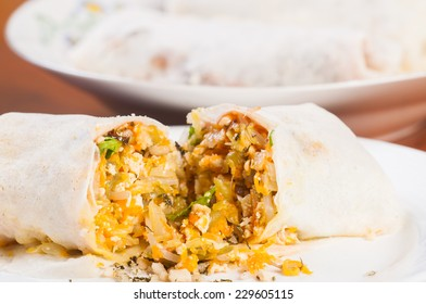 fresh made lumpia or mixed vegetable on a rice wrap