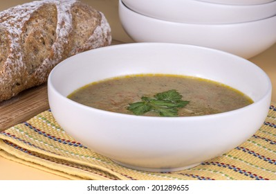 Fresh made pureed vegetable soup