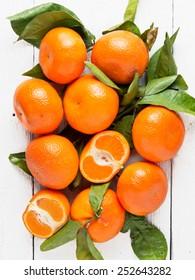 Fresh mandarin fruits