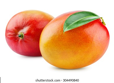 fresh mango isolated on white + Clipping Path