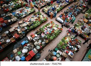 Fresh market in Kota Bharu, Malaysia. February 2006.