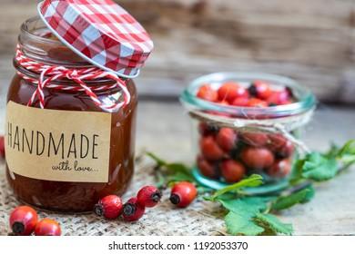 fresh Marmelade from rose hips