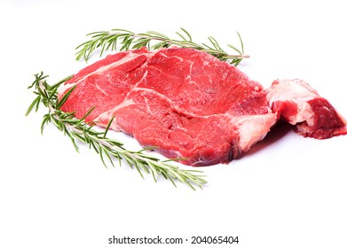 Fresh meat on white background